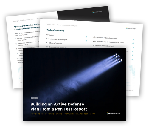 Active Defense with Pen Test Reports